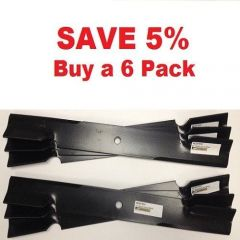 """6 pack of 61"""" Scag Mower Deck Blades, Cutter 21"""" Aftermarket Scag Mower Blades that are made to Scag OEM Specifications - Replaces 482879 Scag OEM"""