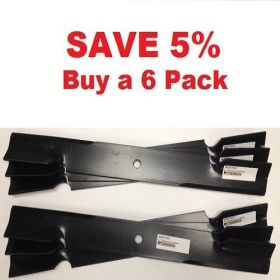 "6 pack of 36"" & 52"" Scag Mower Deck Blades, Cutter 18"" Aftermarket Scag Mower Blades that are made to Scag OEM Specifications - Replaces 482878 Scag"