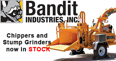 Bandit Chippers and Strump Grinders now available at Louisville Tractor.