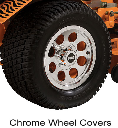 Scag Chrome Wheel Covers for SWZT Walks