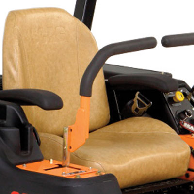 Contoured, Bolstered High-Back Seat