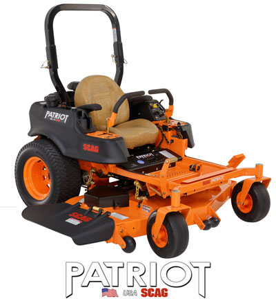 Learn more about the Scag Patriot Mower. Info on Scag Patriot Lawn Mowers, Parts and Accessories.