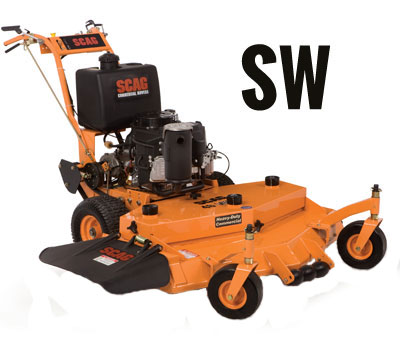 Learn more about the Scag SW Gear / Belt Drive Walk Behind Mower. Info on SW Mowers, Parts and Accessories.
